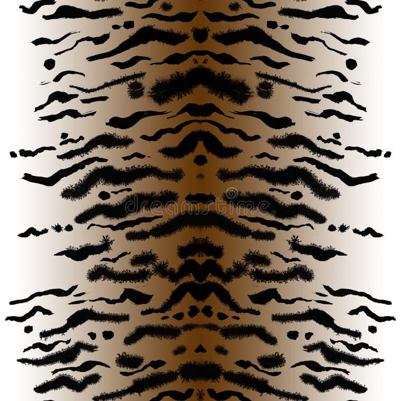 Cópia feito a mão sem emenda do tigre ilustração stock