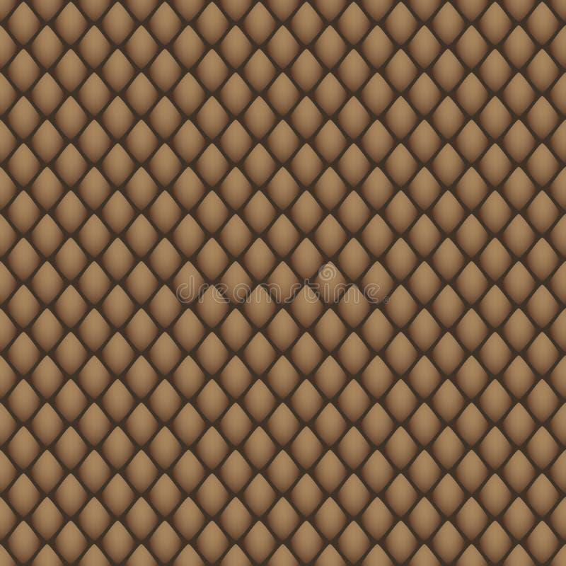 Cópia geométrica abstrata nos tons marrons que imitam a pele de uma serpente ilustração royalty free
