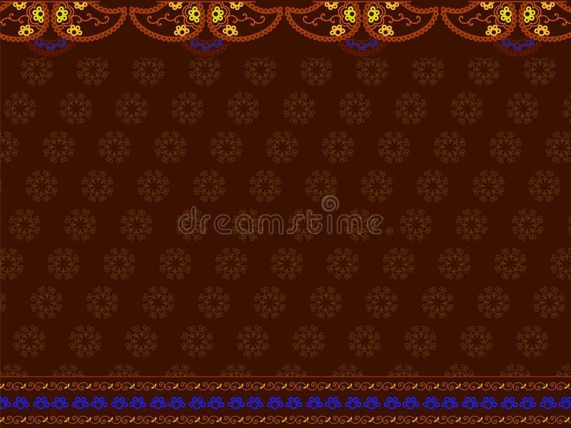 Cópia indiana do sari ilustração do vetor