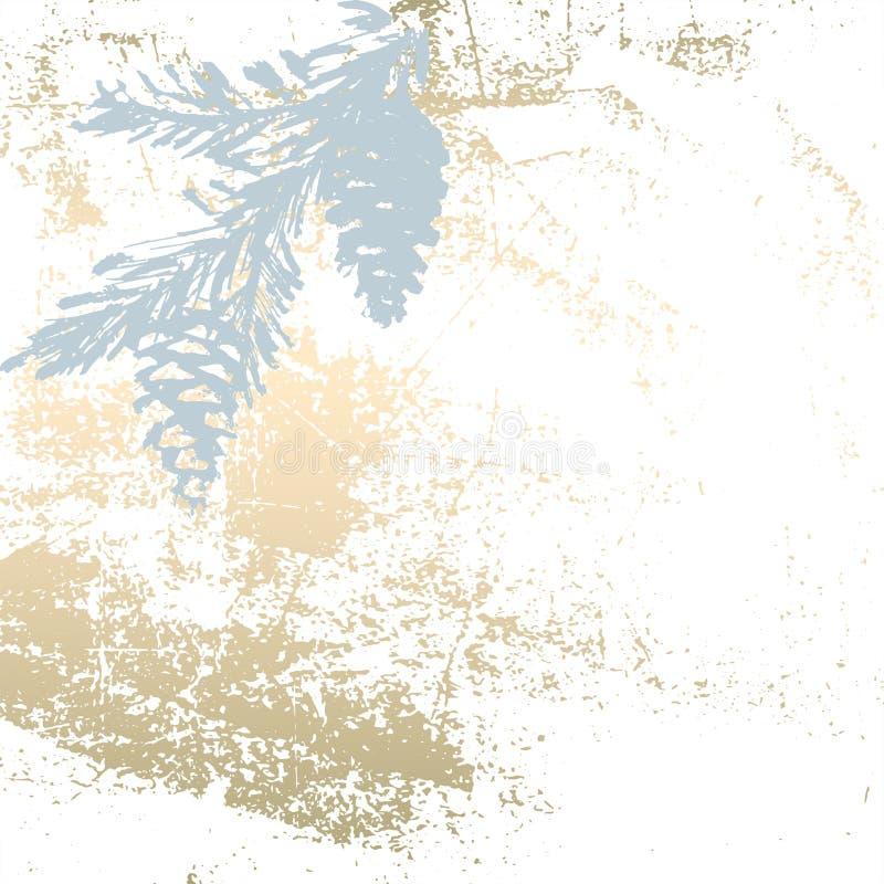 Cópia pastel do ouro do inverno chique ilustração do vetor
