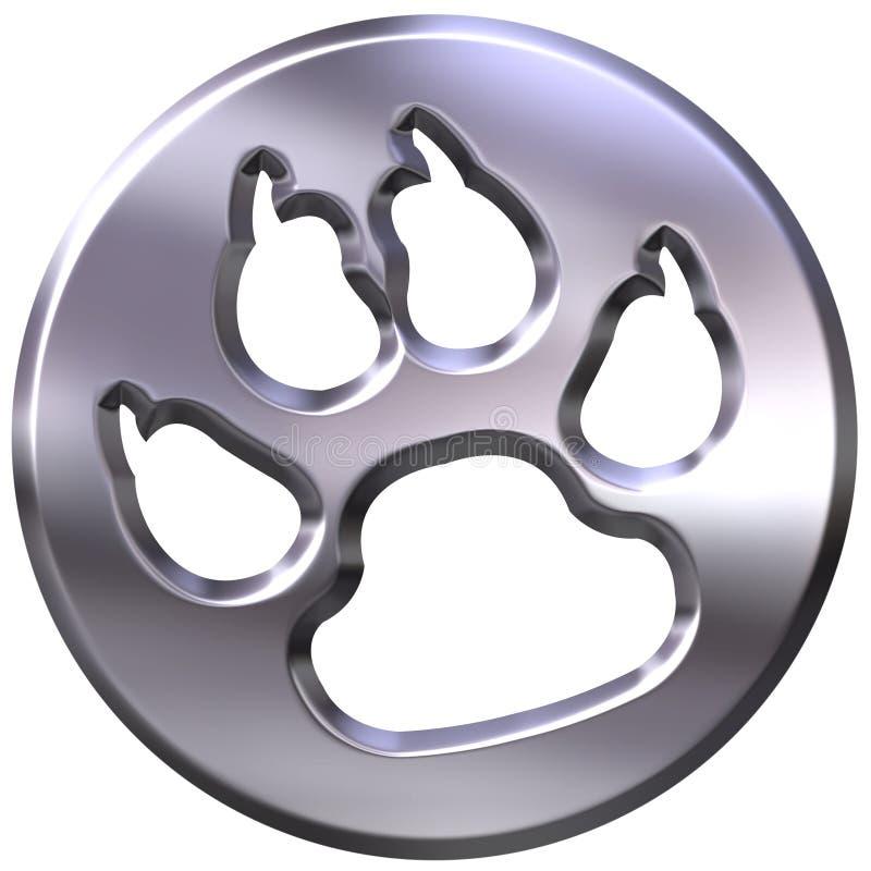 cópia quadro de prata do cão 3D ilustração royalty free