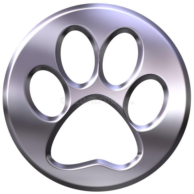 cópia quadro de prata do gato 3D ilustração stock