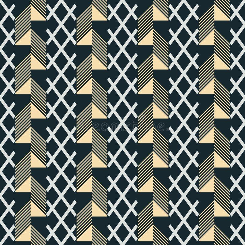 Cópia sem emenda de listras verticais largas modeladas ilustração stock