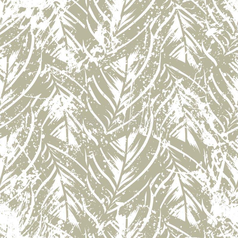 Cópia tropical abstrata corajosa da selva ilustração do vetor