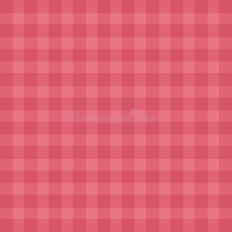 Cópia vermelha tilable fácil lisa do teste padrão da repetição do guingão ilustração stock