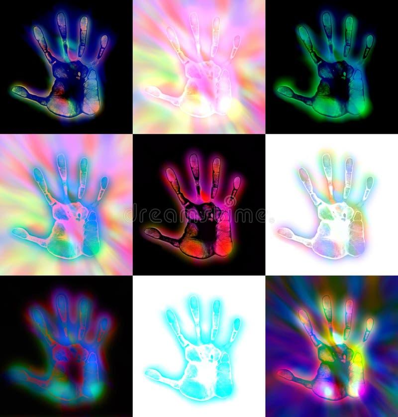 Cópias abstratas da mão ilustração royalty free