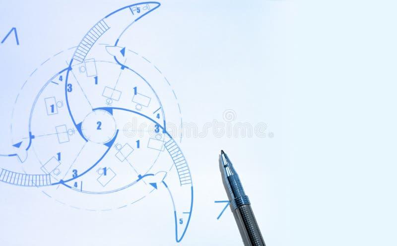 Cópias Azuis E Pena Imagem de Stock Royalty Free