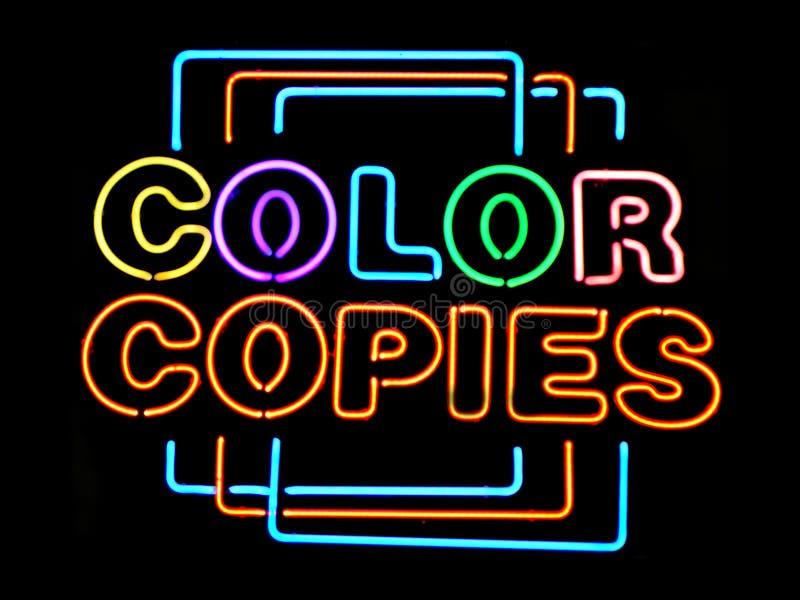 Cópias da cor imagem de stock