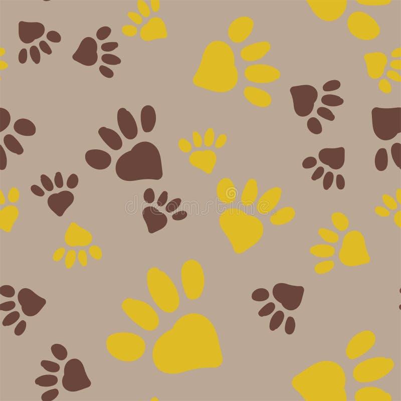 Cópias do pé animal ilustração stock