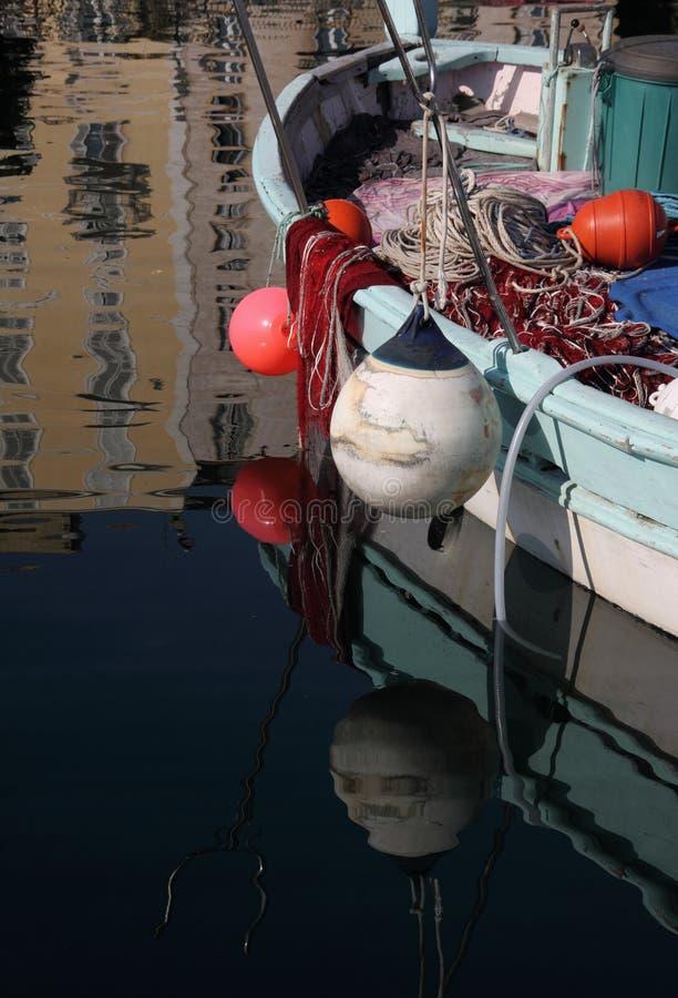 Córcega, Ajacio, barco de pesca imágenes de archivo libres de regalías