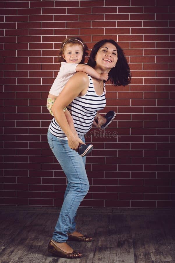 córki kobieta w ciąży zdjęcie stock