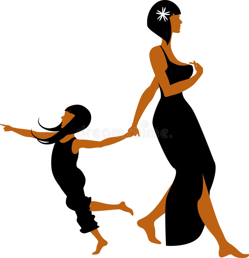 córki matka ilustracja wektor