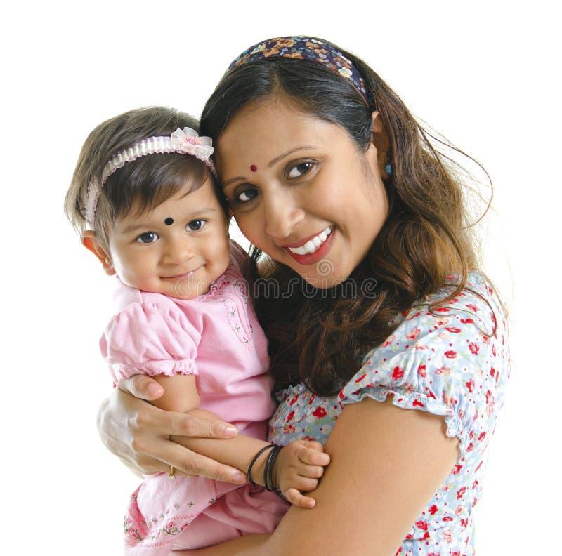 córki matka indyjska nowożytna zdjęcia royalty free