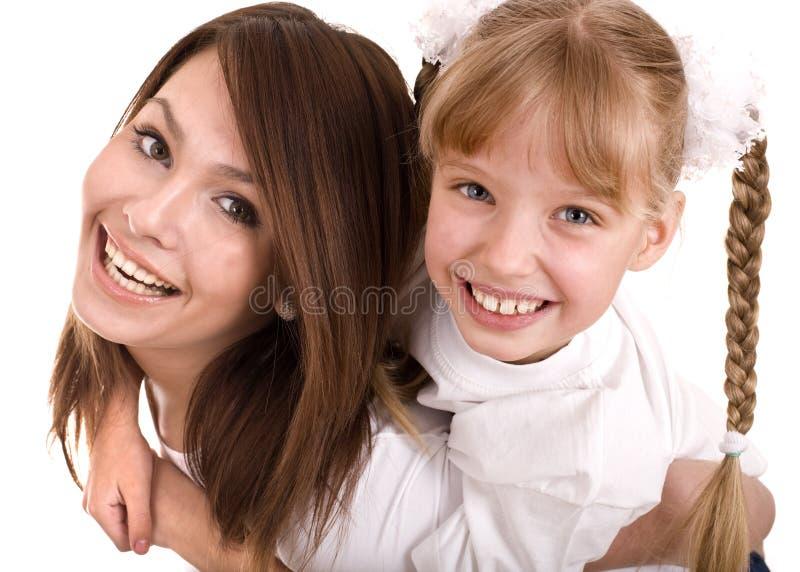 córki matka rodzinna szczęśliwa obraz stock
