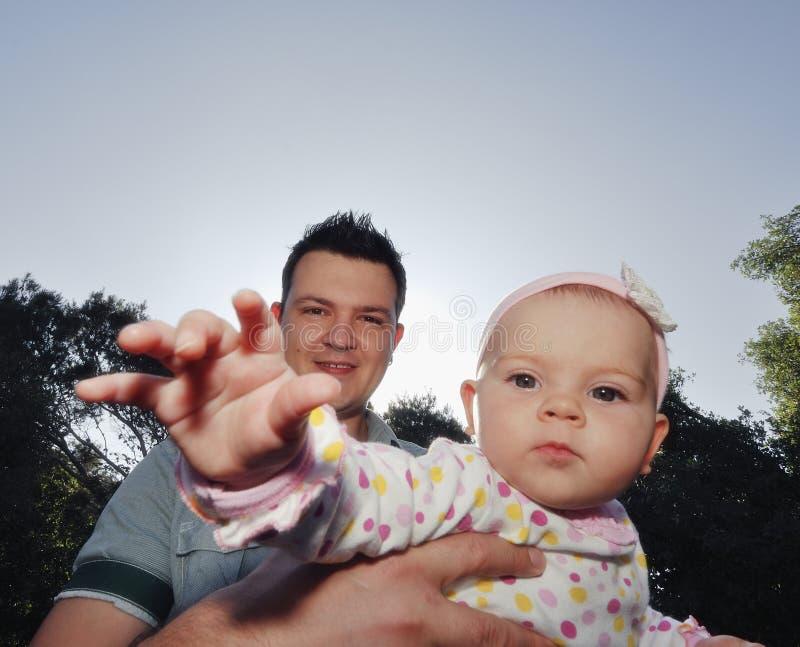 córki ojca szczęśliwi potomstwa fotografia stock