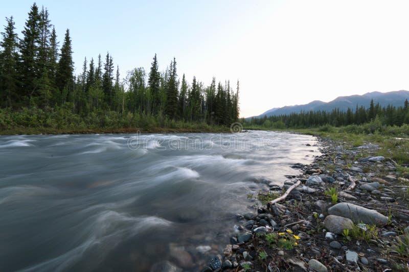 Córrego de borbulhagem de Mountian imagem de stock