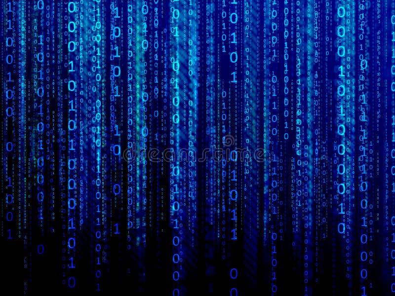Córrego de dados digitais azul ilustração royalty free