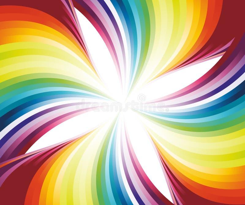 Córrego de fluxo abstrato do arco-íris ilustração do vetor