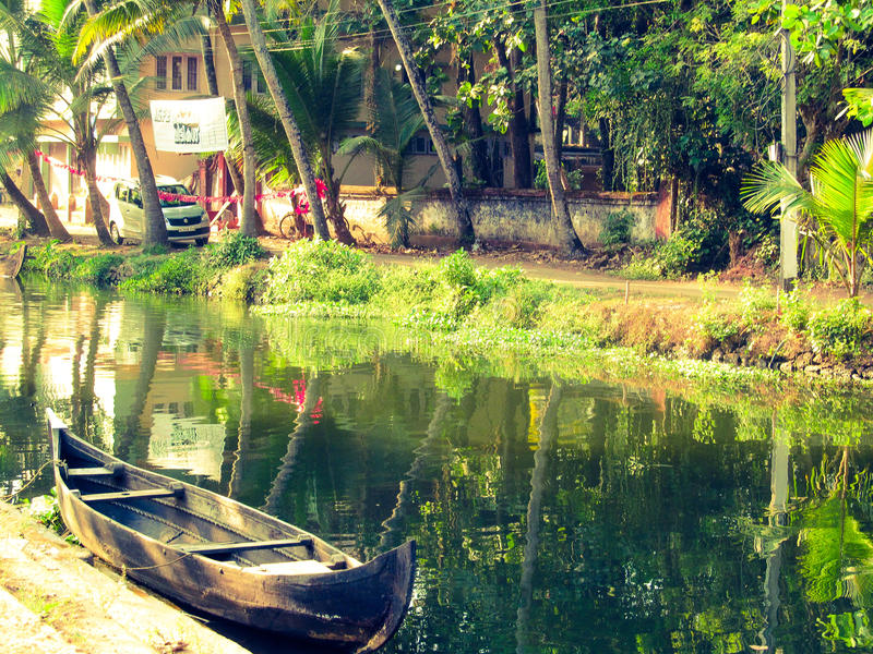 Córrego de Kerala fotos de stock royalty free