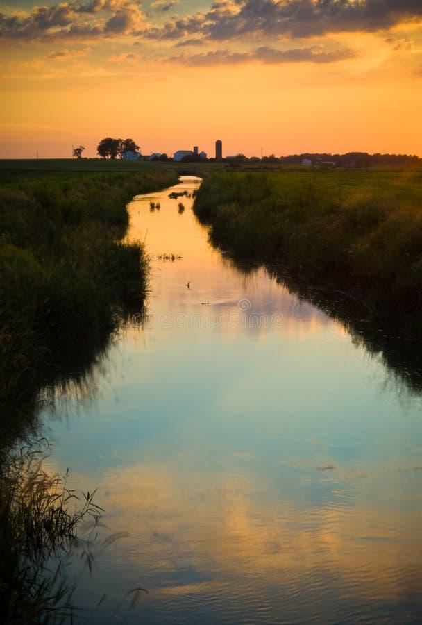 Córrego no país imagens de stock royalty free
