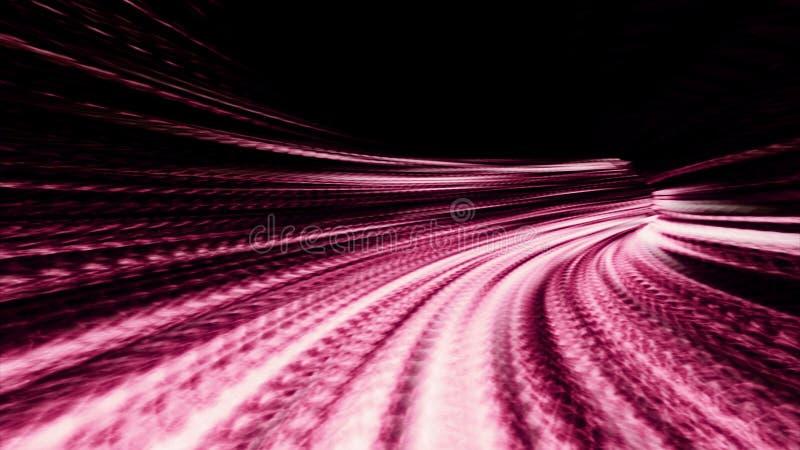 Córregos da luz refratada rosa 10607 ilustração stock
