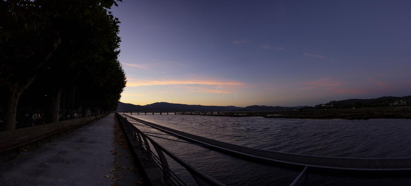 Côa river scenics at sundown, Caminha - Portugal royalty free stock photography