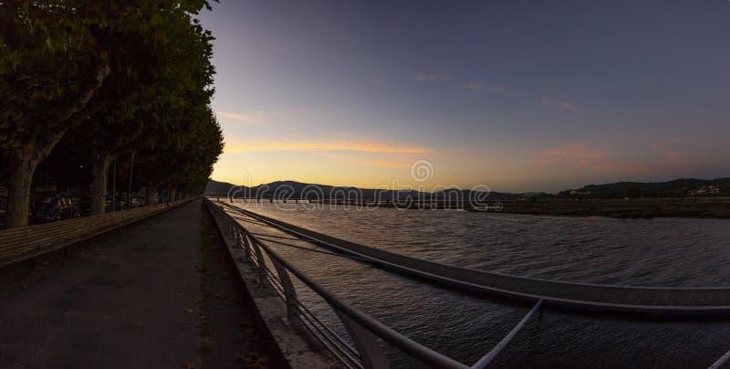 Côa river scenics at sundown, Caminha - PortugalCôa river scenics at sunset, Caminha - Portugal stock photography