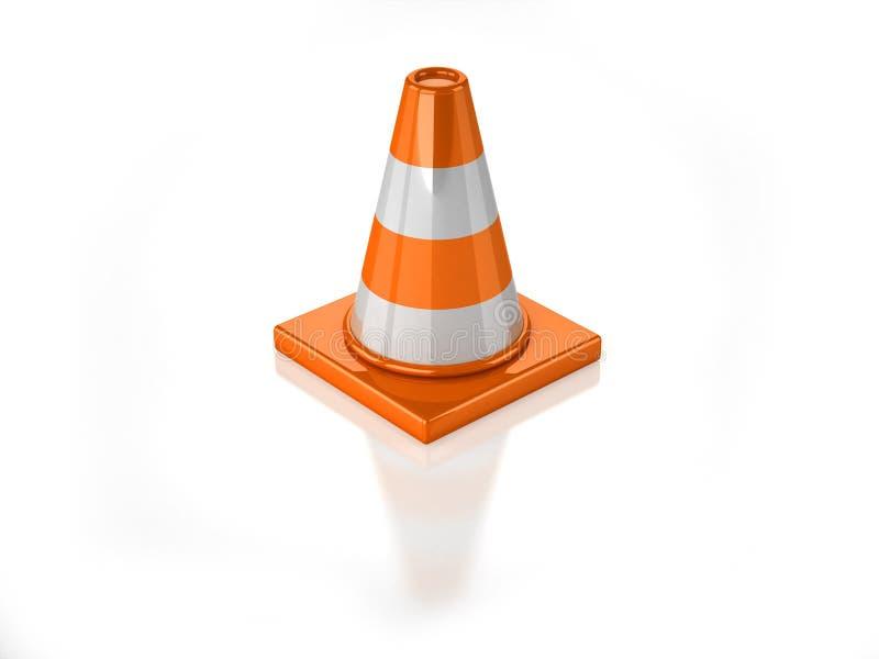 cône 3D éliminé orange illustration libre de droits