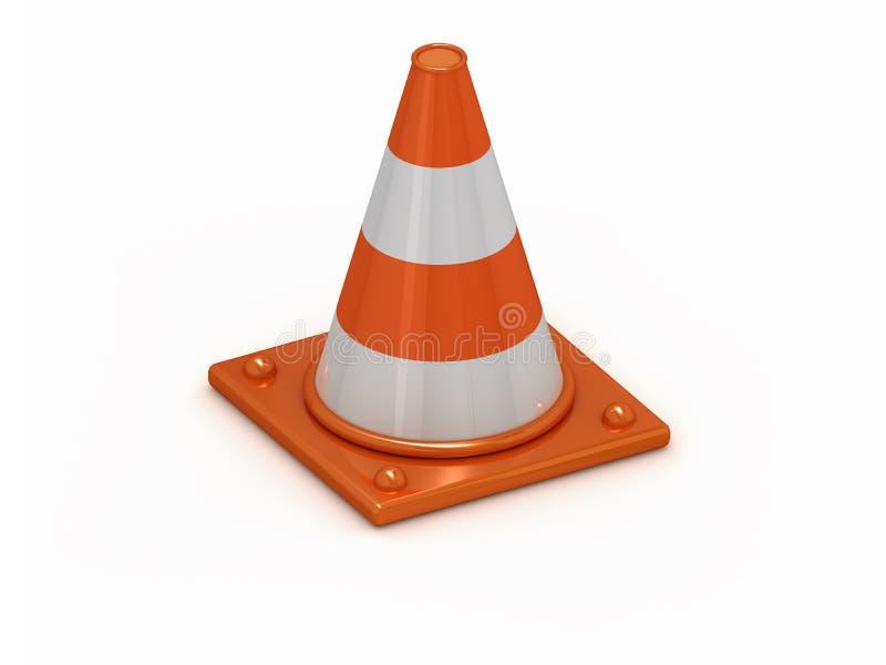 cône 3D éliminé orange illustration stock