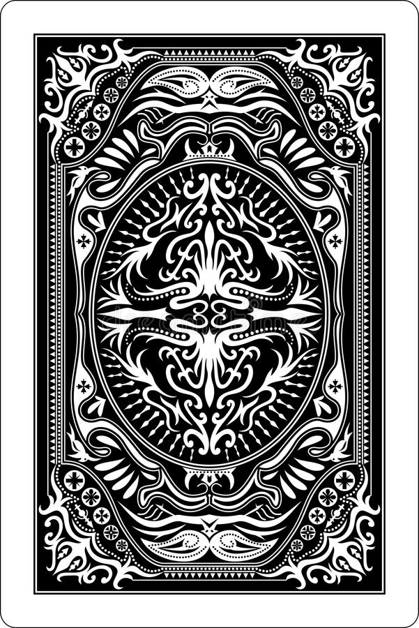 Côté 60x90 millimètre de dos de carte de jeu illustration de vecteur
