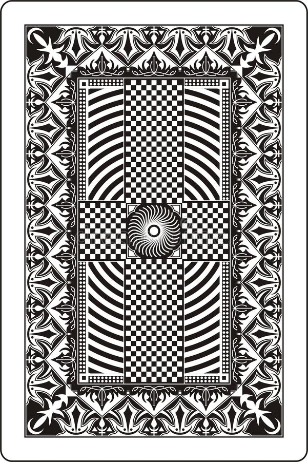 Côté 60x90 millimètre de dos de carte de jeu illustration libre de droits