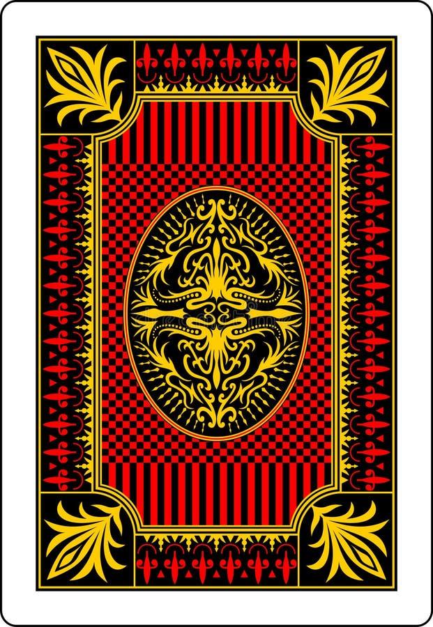 Côté 62x90 millimètre de dos de carte de jeu illustration stock