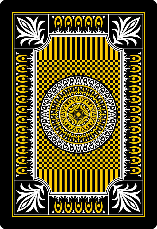 Côté 62x90 millimètre de dos de carte de jeu illustration libre de droits