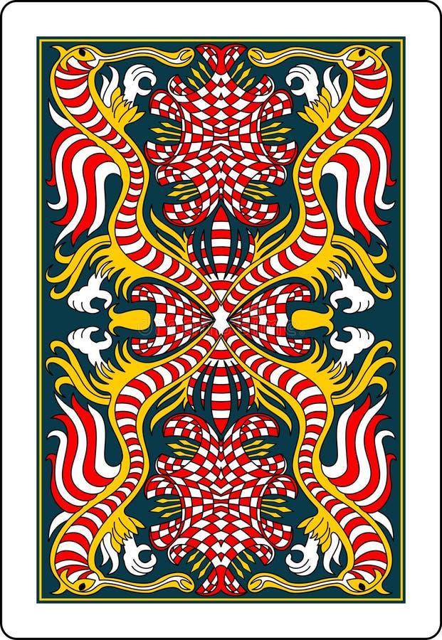 Côté 62x90 millimètre de dos de carte de jeu illustration de vecteur