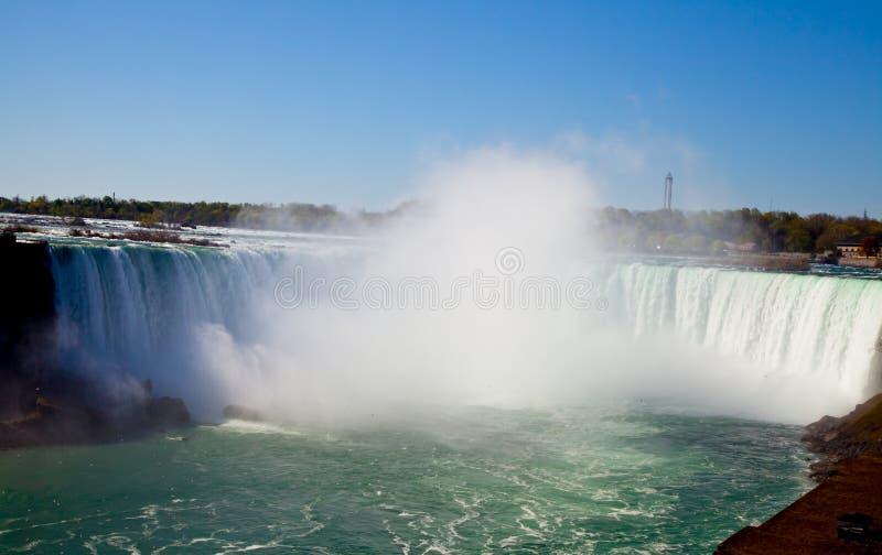 Côté canadien des chutes du Niagara images libres de droits