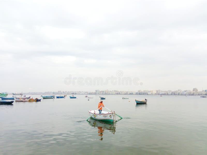 Côté d'anthère de la mer Méditerranée photo libre de droits
