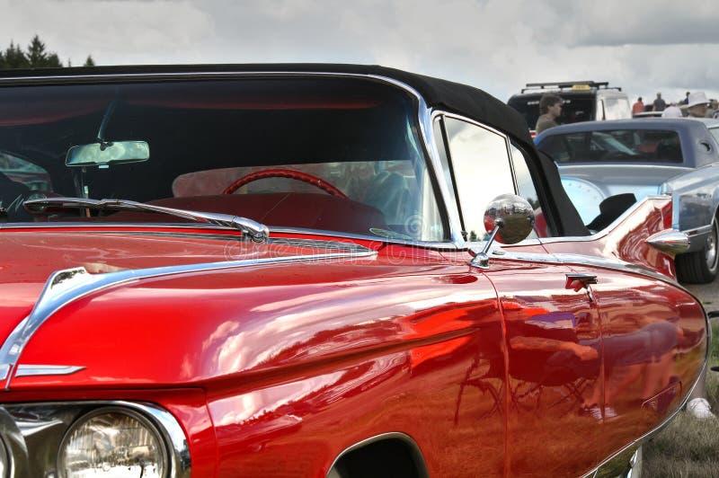 Côté d'une voiture classique rouge photo libre de droits