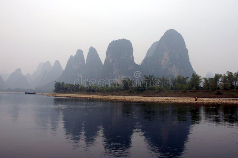 Côté de fleuve de la Chine images libres de droits