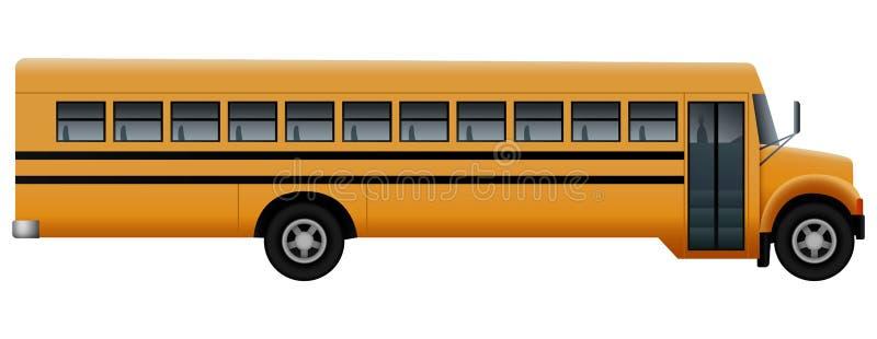 Côté de porte de maquette d'autobus scolaire, style réaliste illustration libre de droits