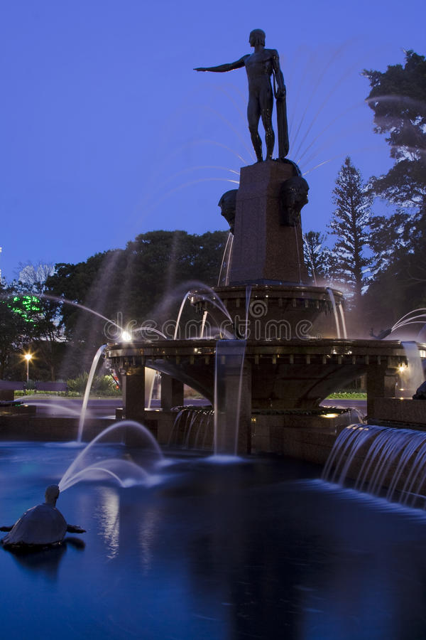 Côté de vert de fontaine d'Archbald photographie stock