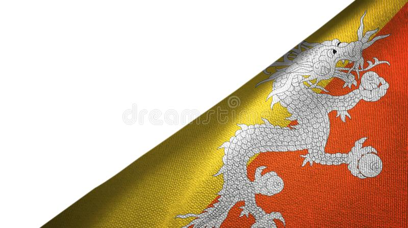 Côté droit de drapeau du Bhutan avec l'espace vide de copie illustration stock