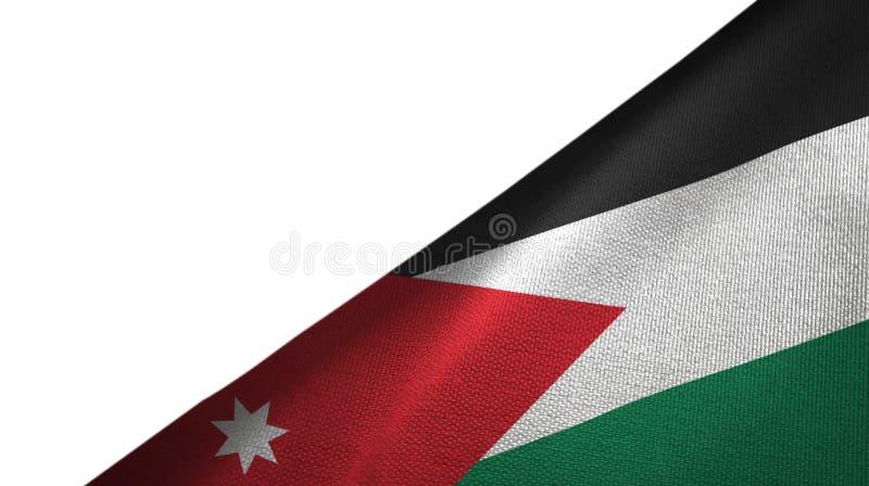 Côté droit de drapeau de la Jordanie avec l'espace vide de copie illustration stock