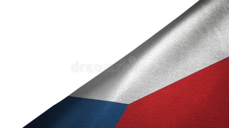 Côté droit de drapeau de République Tchèque avec l'espace vide de copie illustration stock