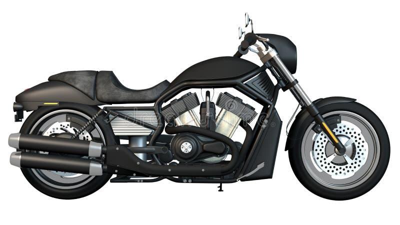 Côté droit de moto illustration de vecteur