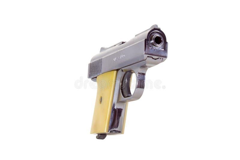 côté droit de pistolet de 25 calibres photos libres de droits