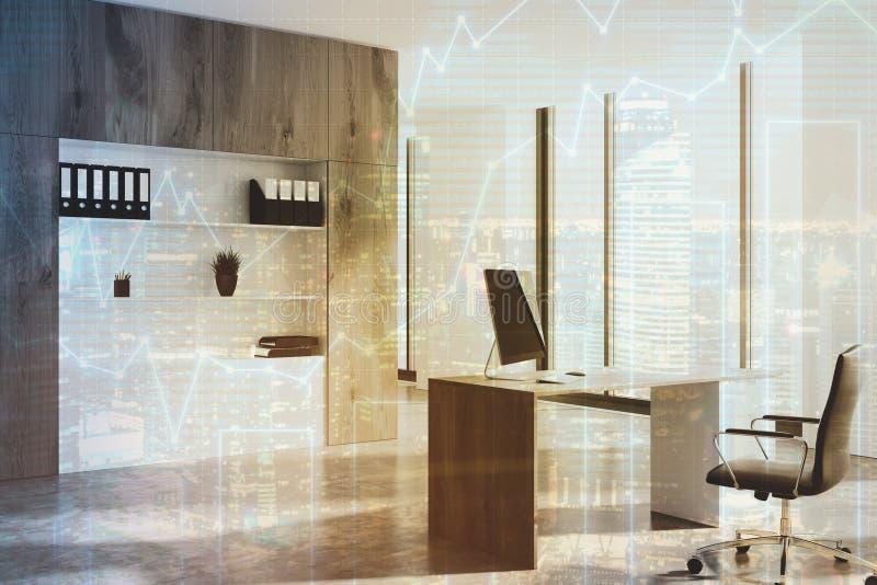 Côté en bois foncé de bureau de Président modifié la tonalité illustration de vecteur