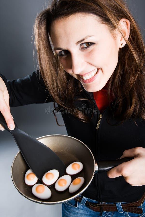 Côté ensoleillé d'oeufs de pâques vers le haut photos libres de droits
