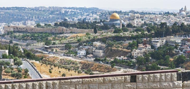 Côté est de l'Esplanade des mosquées à Jérusalem photos stock