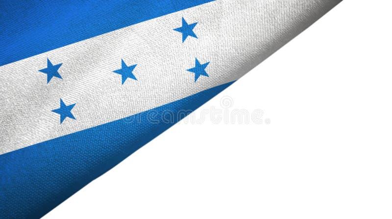 Côté gauche de drapeau du Honduras avec l'espace vide de copie illustration libre de droits