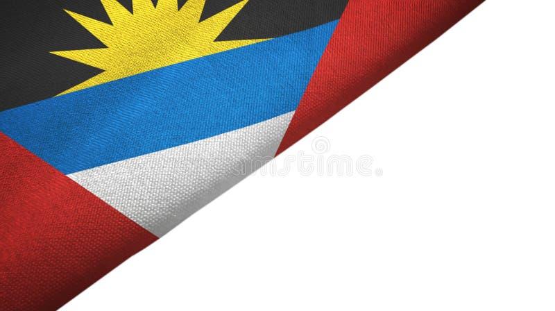 Côté gauche de drapeau de l'Antigua-et-Barbuda avec l'espace vide de copie illustration de vecteur